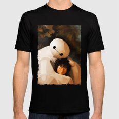 Baymax Love Mens Fitted Tee Black SMALL