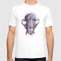 Skull 1 Mens Fitted Tee White SMALL