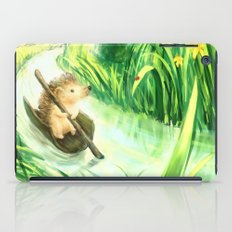 Hedgehog on a journey iPad Case