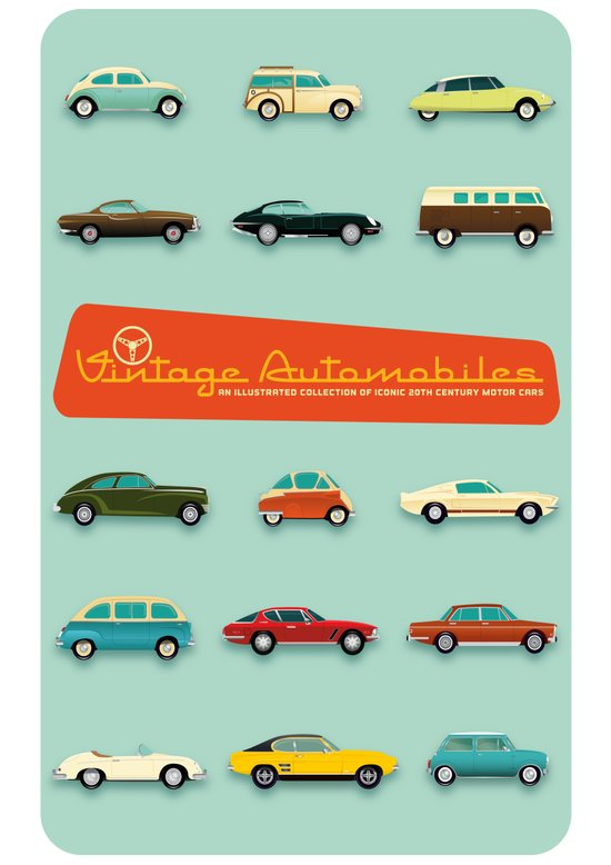 Vintage Automobiles Art Print