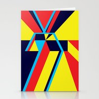Stationery Card featuring Convergence by Robert Cooper