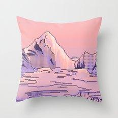 Peach Sunset Throw Pillow