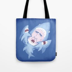 Nic Cage is Sharks! Tote Bag
