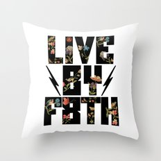 LIVE BY F8TH FLORAL Throw Pillow