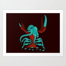 Crabonster Art Print