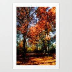 red fall Art Print