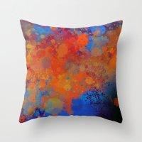 Blue Invasion  Throw Pillow