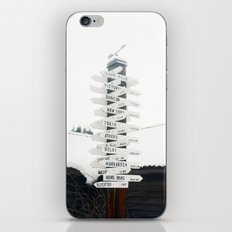 Directions to Anywhere iPhone & iPod Skin