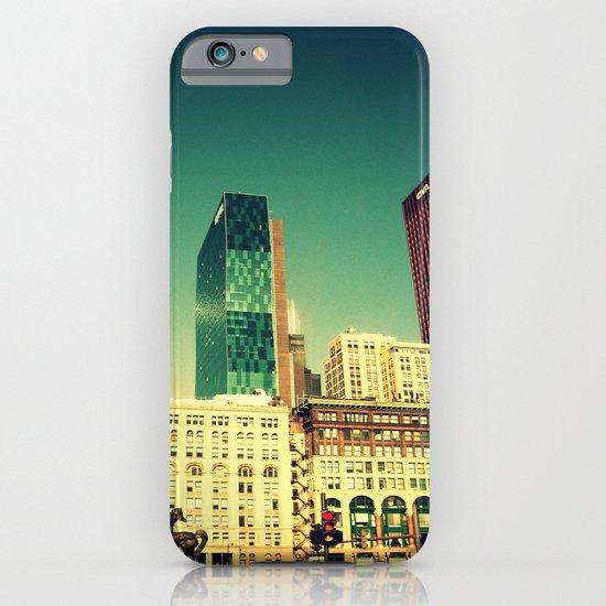 Chicago Retro Skyline ~ architecture iPhone & iPod Case