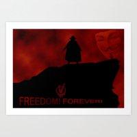 V For Vendetta (e3) Art Print
