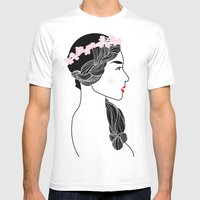 Cherry Blossom Girl. Mens Fitted Tee White SMALL