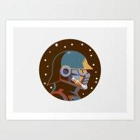 Headgear: Star-Lord Comi… Art Print