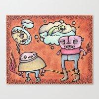 Seamonsters Canvas Print