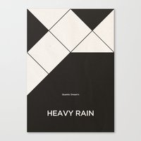 Quantic Dream's Heavy Rain Canvas Print