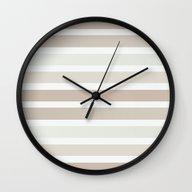 Taupe Beige Neutrals Str… Wall Clock