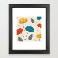 Dandelions In The Wind Framed Art Print