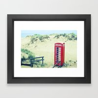 A Call From Paradise Framed Art Print