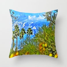 Californian Landscape Throw Pillow