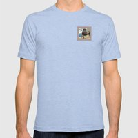 Portrait of a Grumpy Gull Mens Fitted Tee Tri-Blue SMALL