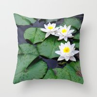 Lilly Pad Blossom  Throw Pillow