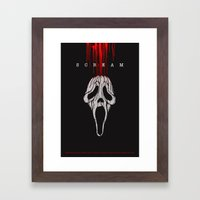 SCREAM (Alternative Movi… Framed Art Print