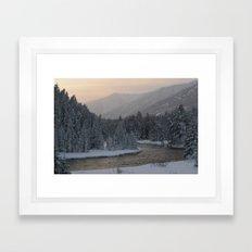 Evening On The River Framed Art Print