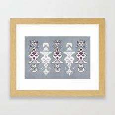 Gray And Purple Framed Art Print