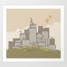 Moore's Big City Art Print