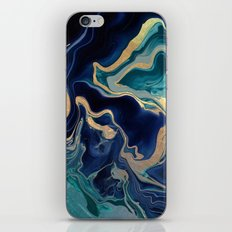 DRAMAQUEEN - GOLD INDIGO MARBLE iPhone & iPod Skin