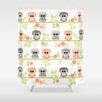 Baby Owls Shower Curtain