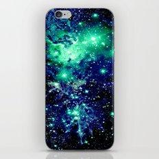 Nebula Galaxy Fox Fur Teal Blue iPhone & iPod Skin