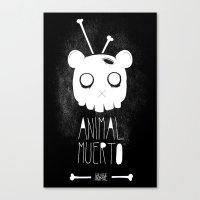 Animal Muerto Canvas Print