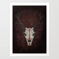 Demon Deer Art Print