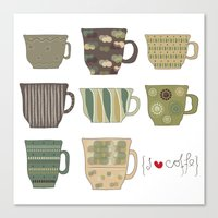 I {❤} Coffee Canvas Print