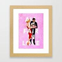 All Is Fair In Love Framed Art Print