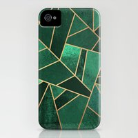 iPhone 4 Case featuring Emerald and Copper by Elisabeth Fredriksson