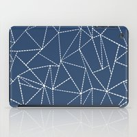 Ab Dotted Lines Navy iPad Case