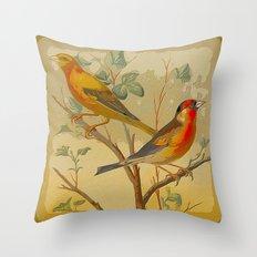 2 Birds In A Tree Throw Pillow