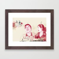 Fun in a Hotel Room Framed Art Print