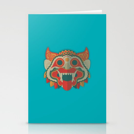 Paper Mask Stationery Card