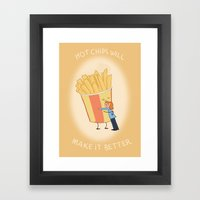 Hot Chips! Framed Art Print