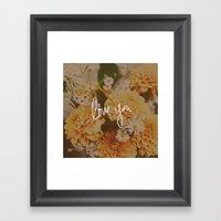 Love You x Orange Floral Framed Art Print