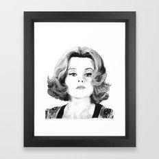 Psychatrist Dr. Julia Hoffman aka Helena Bonham Carter Framed Art Print
