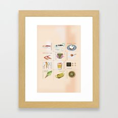 Japanese Food  Framed Art Print