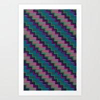 Pixel Stack No.2 Art Print