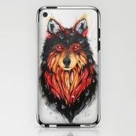 Fire Wolf iPhone & iPod Skin