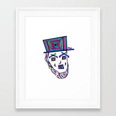 Colored Lincoln Framed Art Print