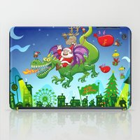 Santa changed his reindeer for a dragon iPad Case