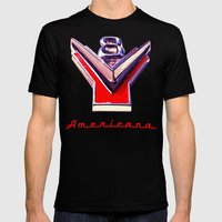 V8 Mens Fitted Tee Black SMALL