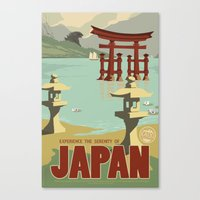 Kaiju Travel Poster Canvas Print